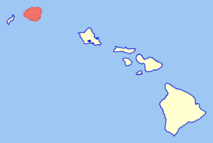 Kauai Island on the map highlighted